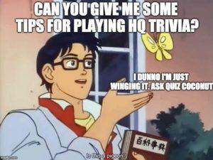 how to win HQ trivia quiz coconut
