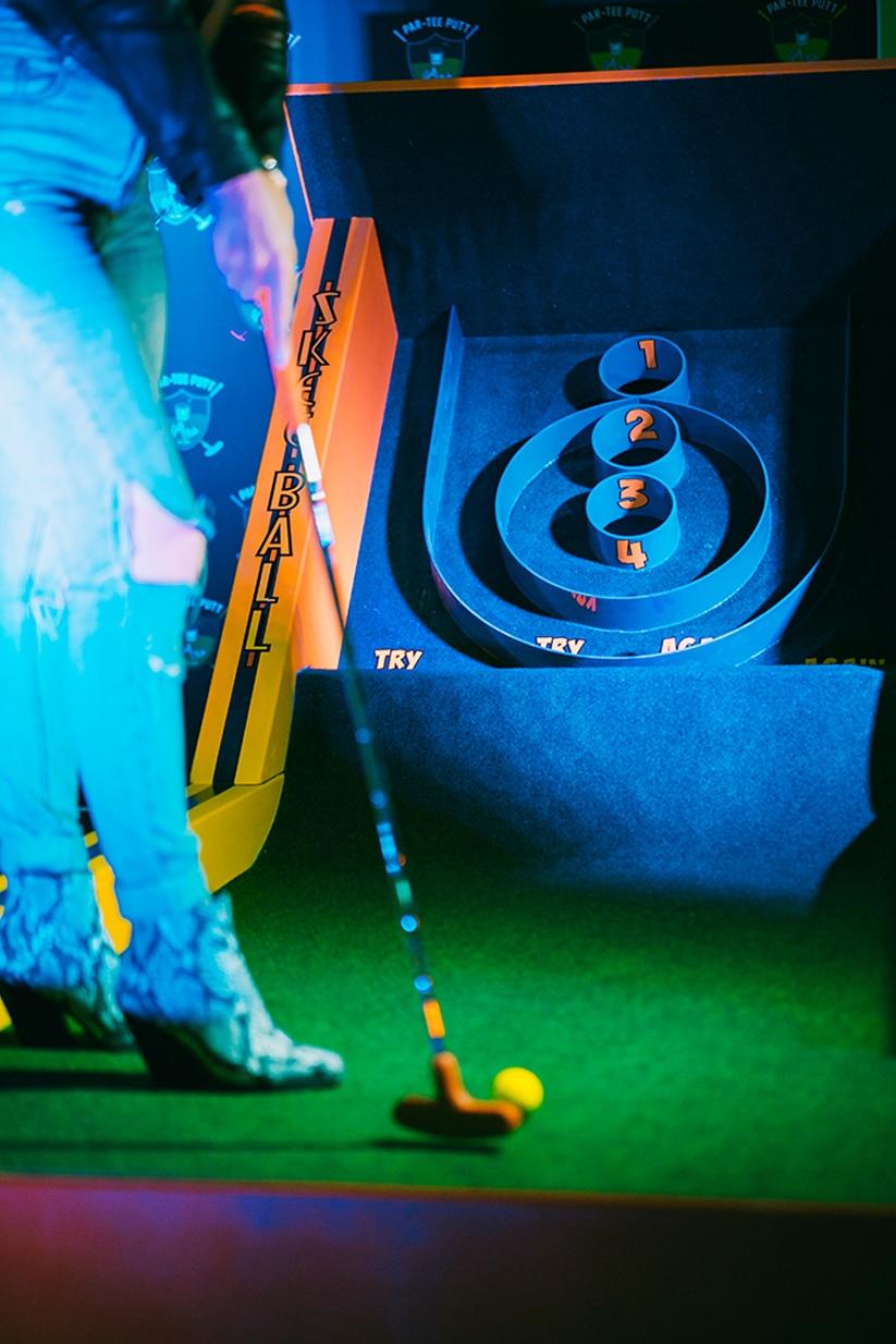 par-tee-putt example hole mini golf downtown